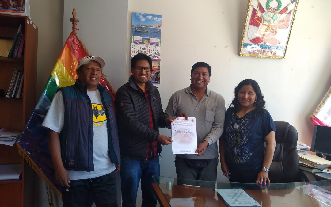 Firma de Convenio entre la Municipalidad de Cusipata e Innovar y Compartir, Cusco, 01 de junio del 2019