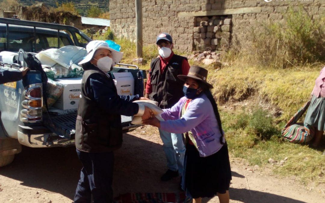 Campaña de solidaridad: Compartir alimentos a 100 familias rurales en Cusipata